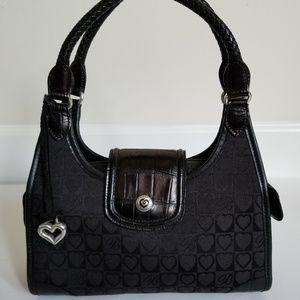 Brighton Black Jacquard Signature Classic Handbag